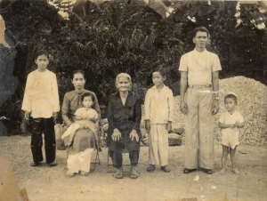 Papa Lam Hung, Grandpa Lam Chin , Uncle Van, Great Grandma, Grandma Kim Hoa, Aunt Lan, and Aunt Cam.