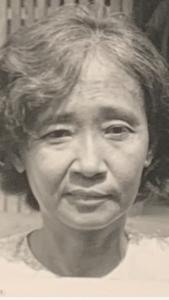 My beloved Aunt Kien, taken in 1981 after surviving the Khmer Rouge Genocide